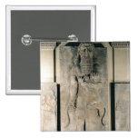 The hero Gilgamesh holding a lion 15 Cm Square Badge