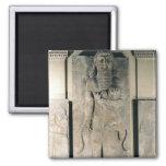 The hero Gilgamesh holding a lion Fridge Magnets