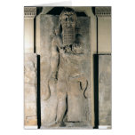 The hero Gilgamesh holding a lion Greeting Card