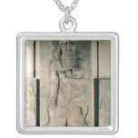 The hero Gilgamesh holding a lion Square Pendant Necklace