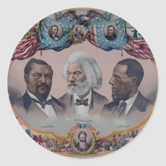 """""""The Heroes Of The Colored Race"""" Round Sticker"""