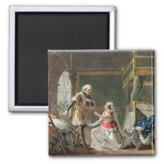 The Heroic Devotion of Marguerite of Provence (121 Square Magnet
