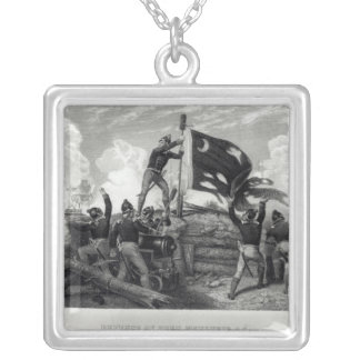 The Heroism of Sergeant William Jasper Silver Plated Necklace