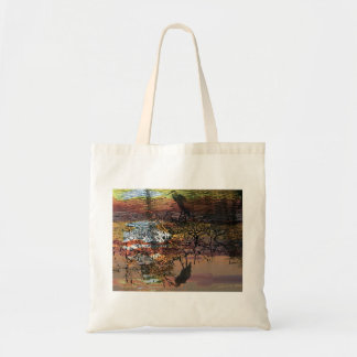 The heron Illusion Budget Tote Bag