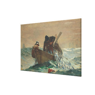 The Herring net, 1885 (oil on canvas) Canvas Print