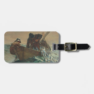 The Herring net, 1885 (oil on canvas) Luggage Tag