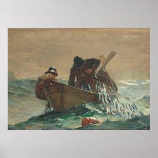 The Herring net, 1885 (oil on canvas) Print