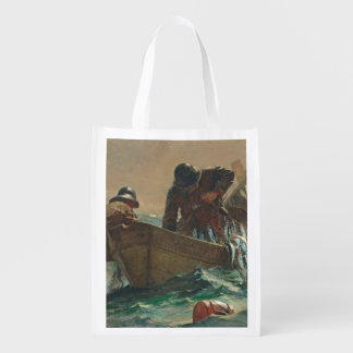 The Herring net, 1885 (oil on canvas) Reusable Grocery Bags