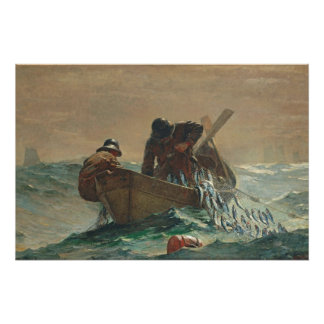 The Herring net, 1885 (oil on canvas) Perfect Poster