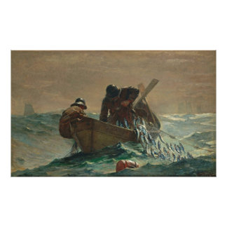 The Herring Net, by Winslow Homer Poster