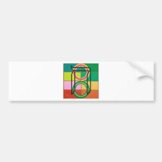 The Het Letter - Hebrew alphabet Bumper Sticker