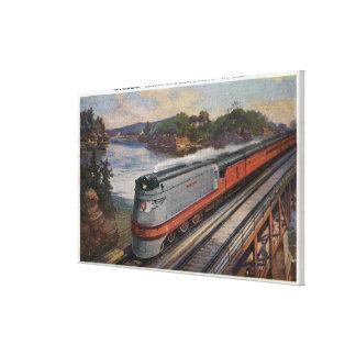 The Hiawatha Streamline Train Canvas Print