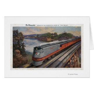 The Hiawatha Streamline Train Greeting Card