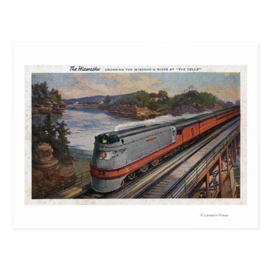 The Hiawatha Streamline Train Postcard