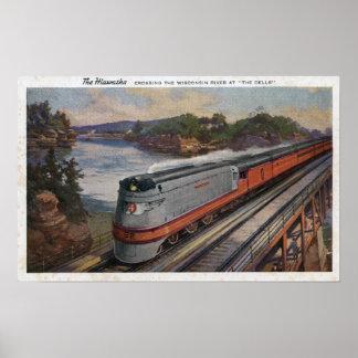 The Hiawatha Streamline Train Poster