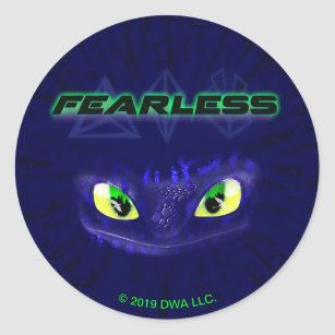 The Hidden World   Toothless Is Fearless Classic Round Sticker