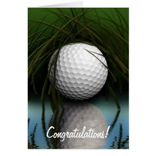 """""""THE HIDING PLACE"""" Fun Golfer's Greeting Cards"""
