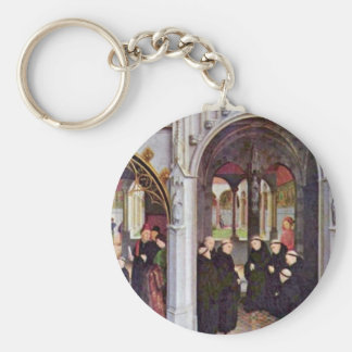 The High Altar Of The Abbey Church Of Saint-Bertin Basic Round Button Key Ring