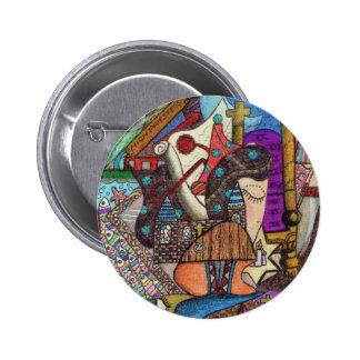 The High Priestess Tarot card by Kaye Talvilahti 6 Cm Round Badge