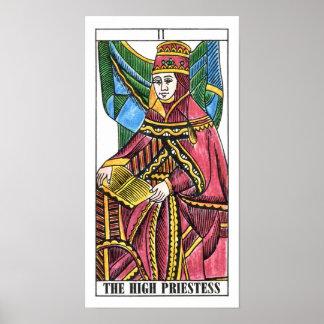 The High Priestess Tarot Card Poster