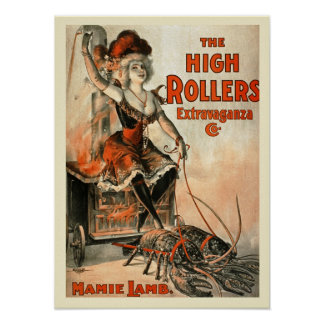 The High Roller Extravaganza Vintage Poster