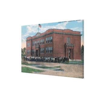 The High School with Faculty and Students Gallery Wrapped Canvas