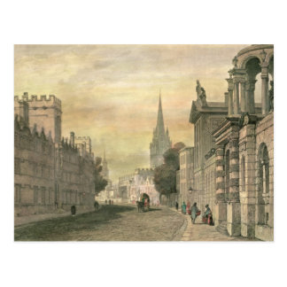 The High Street, Oxford, engraved by G. Hollis Postcard