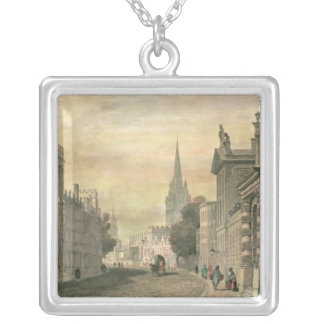 The High Street, Oxford, engraved by G. Hollis Silver Plated Necklace