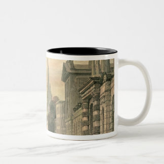 The High Street, Oxford, engraved by G. Hollis Two-Tone Coffee Mug