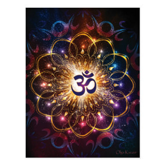 The higher power of Om Postcard