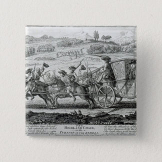 The Highland Chase, 21st February 1745 15 Cm Square Badge