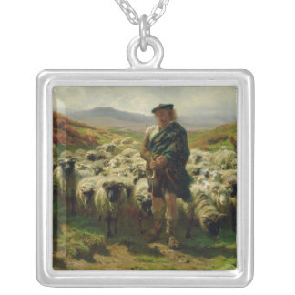 The Highland Shepherd, 1859 Silver Plated Necklace