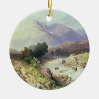 The Highlands, near Argyle (w/c on paper) Christmas Ornament
