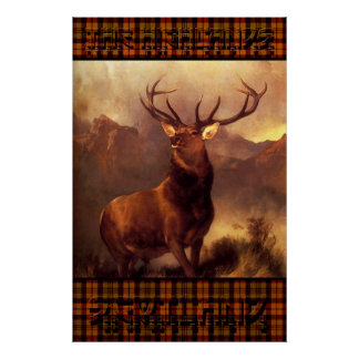 The Highlands Scotland - The Scottish Stag Poster