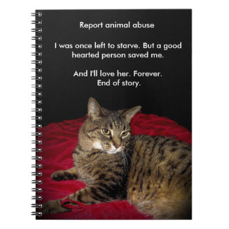 The Highway 655 cat Spiral Note Book