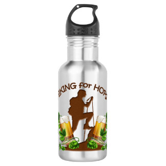 The Hiking for Hops 18 oz Water Bottle 532 Ml Water Bottle