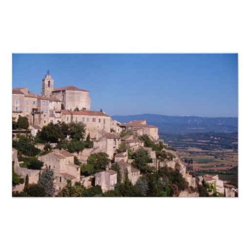 The hill top village of Gordes Art Photo