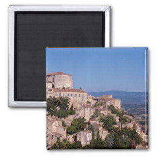 The hill top village of Gordes Square Magnet