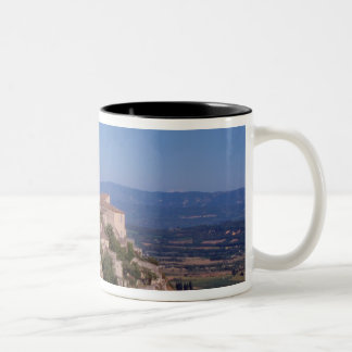 The hill top village of Gordes Two-Tone Coffee Mug