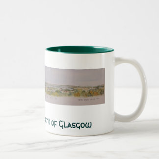 The Hills to the North of Glasgow Two-Tone Coffee Mug
