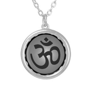 THE HINDU WISDOM SILVER PLATED NECKLACE