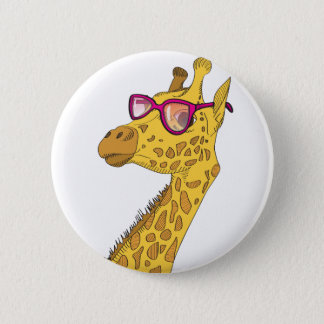 The Hipster Giraffe 6 Cm Round Badge