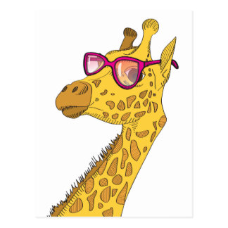 The Hipster Giraffe Postcard