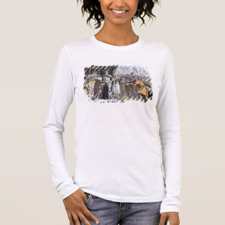 The Historic Day of Bouvines in 1214, engraved by Long Sleeve T-Shirt