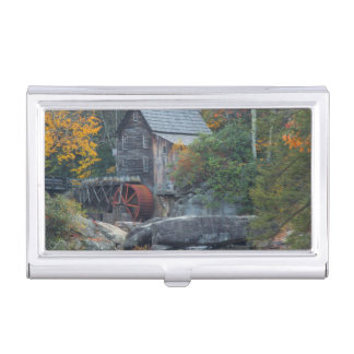 The Historic Grist Mill On Glade Creek 2 Business Card Holder