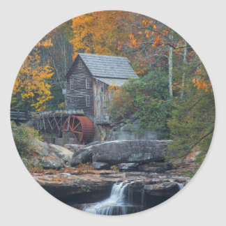 The Historic Grist Mill On Glade Creek 2 Sticker