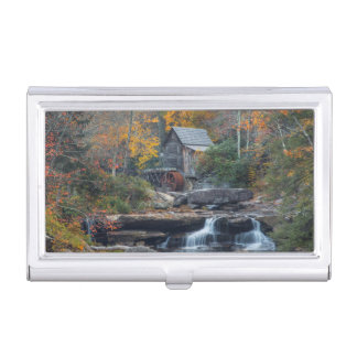 The Historic Grist Mill On Glade Creek Business Card Holder