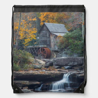 The Historic Grist Mill On Glade Creek Drawstring Bag
