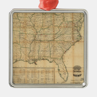 The Historical Civil War Map (1862) Christmas Ornament