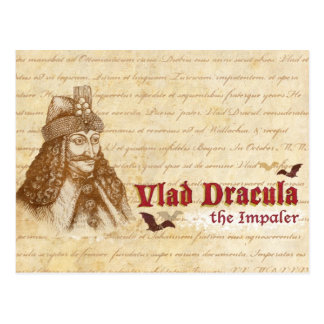 The historical Count Dracula Postcard